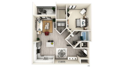 A2 Floor Plan at The Crest at Naples, Florida, 34113
