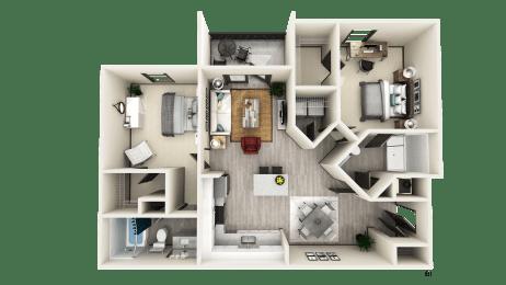 B1 Floor Plan at The Crest at Naples, Naples, FL, 34113