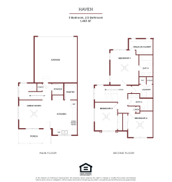 HAVEN Floor Plan at Brownstones at Palisade Park Apartments, Chartered Holdings, Colorado