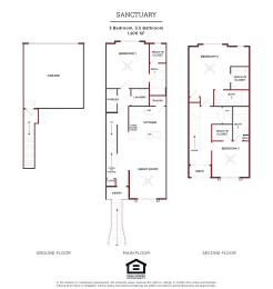 SANCTUARY FLOOR PLAN at Brownstones at Palisade Park Apartments, Chartered Holdings, Broomfield, 80023