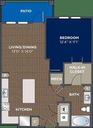 One bedroom, one bathroom at Luma Headwaters, Orlando, FL, 32837