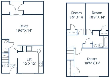 3 Bedroom Townhome__Floor Plan
