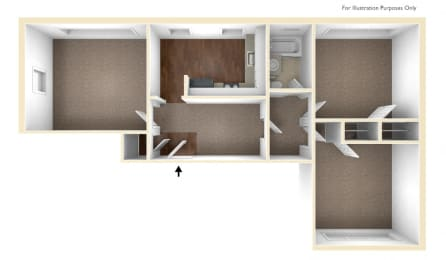Two Bedroom Apartment Floor Plan Conway Court Apartments