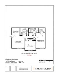 Two bedroom apartments Pondside at Littleton