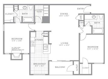 B3 Garage Floor Plan at AVE Somerset, Somerset