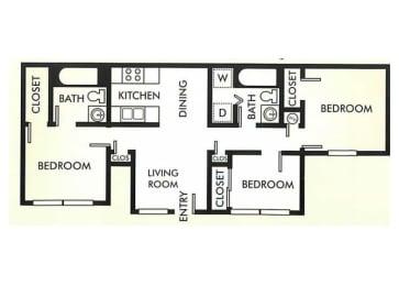 Three Bedroom apartment home