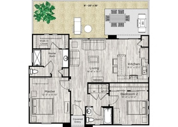 The Retreat Floor Plan at Avilla Heritage, Texas