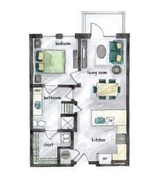 Floor Plan  A1- Opal