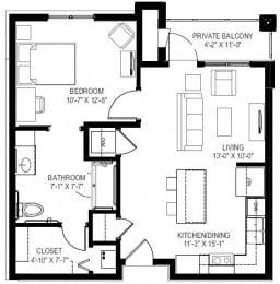 georgetown active 55+ 1 bedroom apartments for rent