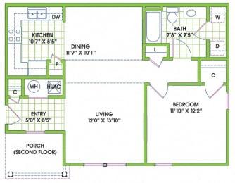 Floor Plan  Greenlaw 1 Bedroom Flat
