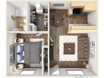 Studio Floor Plan |Hilands I & II