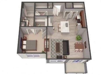 1A Floor Plan |Lofts at Zebulon