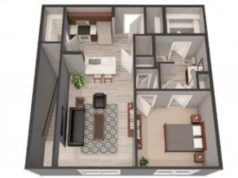 1B Floor Plan |Lofts at Zebulon