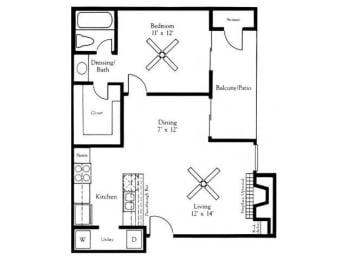 A2 Floor Plan |Village Oaks