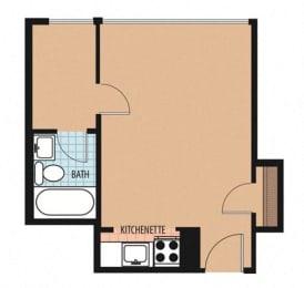 Calvert Floor Plan at Sarbin Towers, Washington, DC