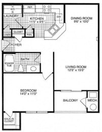 Floor plan at Woodland Park, Herndon, VA
