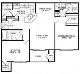 Floor plan at Woodland Park, Herndon, Virginia