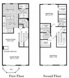 Floor plan at Woodland Park, Herndon, 20171