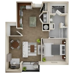 Floor Plan 1 Bed/1 Bath - 1A-ALT