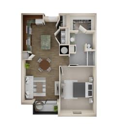 Floor Plan 1 Bed/1 Bath - 1A-ALT2