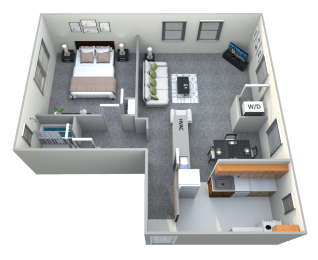 Floor Plan  Donnybrook Apartments Towson 1 Bedroom 1 Bath 688sf