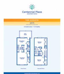 Augusta floor plan at Centennial Place in Atlanta, Georgia