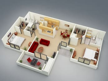 The Resort Floor Plan at Mission Sierra Apartments, Union City, CA