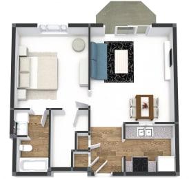One Bedroom Plus at Gramercy on Garfield, Cincinnati, 45202