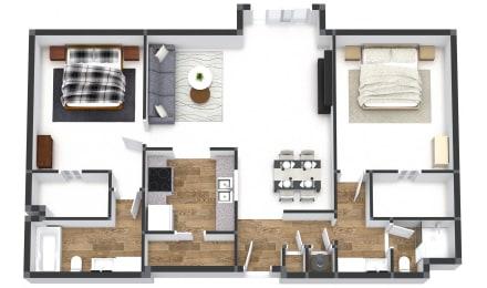 Two Bedroom Juliette Plus