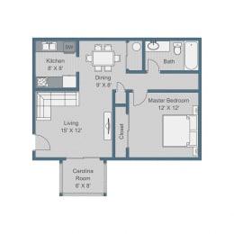 Standard Floor Plan at Sterling Bluff Apartments, Savannah, Georgia