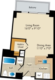 studio apartments in Bethesda MD