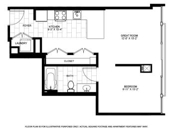 Floor Plan  Convertible Floorplan at Flair Tower