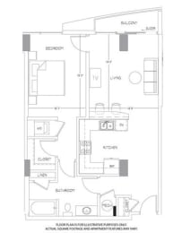 Floor Plan  A7 Floorplan at Glass House by Windsor