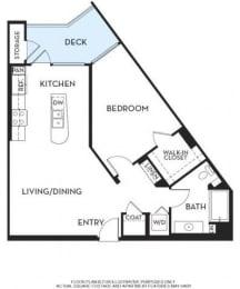 Floor Plan  Floorplan At 5550 Wilshire at Miracle Mile by Windsor, Los Angeles, CA, 90036