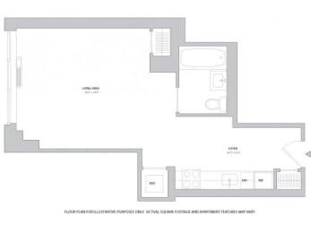 Floor Plan  Studio1 Floorplan at The Ashley