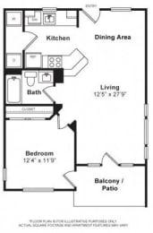 Floor Plan  Floorplan at The Kensington, Pleasanton, CA, 94566