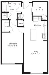 Floor Plan AD1 (1+Den)