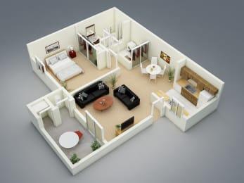 Spring Floor Plan at The Seasons Apartments, California, 94583