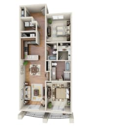 The Stingray Floor Plan at LangTree Lake Norman Apartments, Mooresville