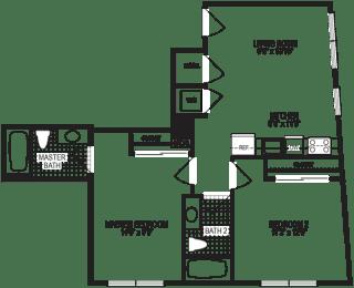 Spark 2 Bedroom Floorplan
