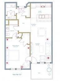 1 Bedroom Floorplan Layout for Ashland Woods