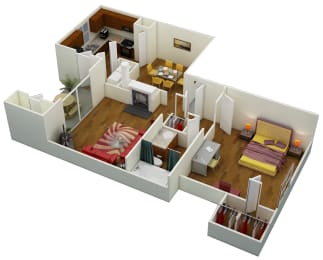 Floor Plan One Bed   One Bath   C2