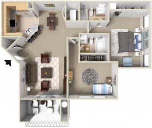 2 Bedroom Floor Plan Overview