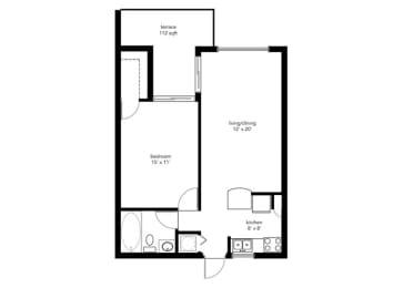 Floor Plan 1B1B