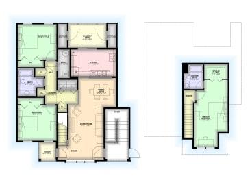 Floor Plan 3 Bedroom / 2 Stories