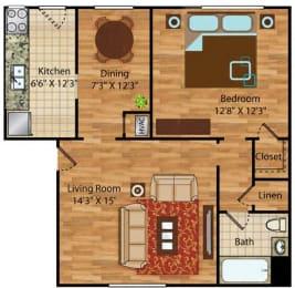 1 bedroom 1 bath apartments for rent in Norfolk VA