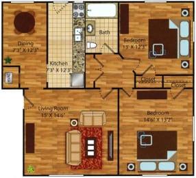2 bedroom 1 bath apartments for rent in Norfolk VA