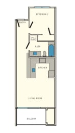 A Floor Plan at Aviator at Brooks Apartments, Clear Property Management, Texas, 78235