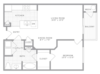 A1 Floor Plan at AVE Union, Union