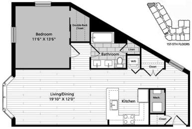 A4 Floor Plan at Gatehouse 75, Massachusetts, 02129